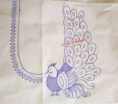Peacock Embroidery Designs, Hand Embroidery Design Patterns, Bead Embroidery Tutorial, Hand Quilting Patterns, Embroidery Motifs, Quilting Designs, Best Embroidery Machine, Hand Embroidery Videos, Hand Work Embroidery
