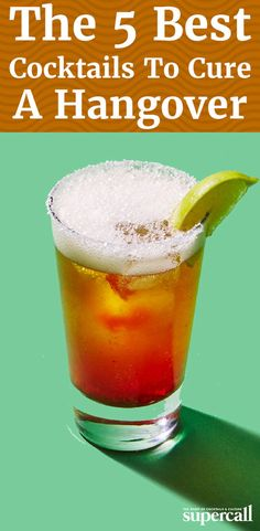 There's nothing that softens the blow of a bad hangover better than a gooey, cheesy breakfast sandwich and a well-curated cocktail. Here are five of our favorite hangover cocktails to cure you the morning after. Fun Drinks Alcohol, Best Alcohol, Fun Cocktails, Cocktail Drinks, Cocktail Recipes, Alcoholic Drinks, Beverages, Hangover Tips, Hangover Drink
