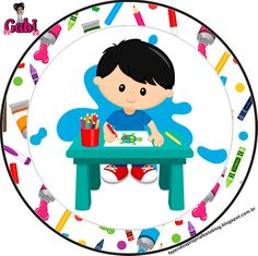 Art Themed Party, Art Party, Montessori Activities, Activities For Kids, School Border, Party Table Centerpieces, Doll Party, Cartoon People, Cartoon Background