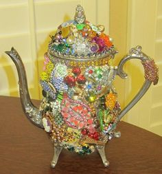 VINTAGE Silverplated TEAPOT With Vintage by 2charmedanddangerous, $250.00
