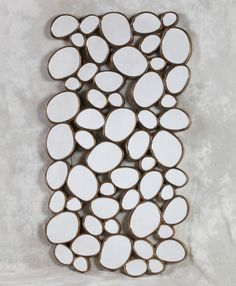Pebble Mirror, available with gold or silver edge