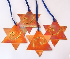 Star of David Copper Ornament Judaica Hanukkah by Copperista