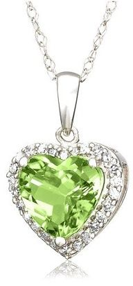 Creative Lalique HEART NECKLACE IN PERIDOT