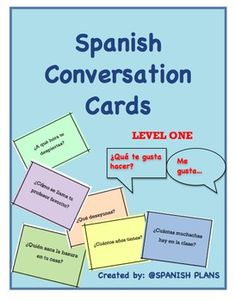 Get your beginning Spanish students speaking! Over 175 questions for your students to ask and respond to. Cards to be printed measure 2.75 x 3....