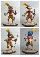 labyrinth Sir Didymus sculpture colors by yotaro-sculpts
