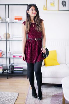 One way to style that H&M dress I have that looks JUST like that... holiday party?