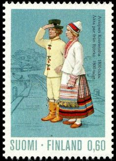 Stamp: Couple from Koivisto, Karelia Century) (Finland) (National Costumes) Mi:FI 734 Stamp World, Lapland Finland, Popular Hobbies, Marriage Couple, Old Photographs, Fauna, Stamp Collecting, Ancient History, Postage Stamps