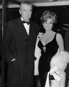 Raquel Welch and Jimmy Stewart