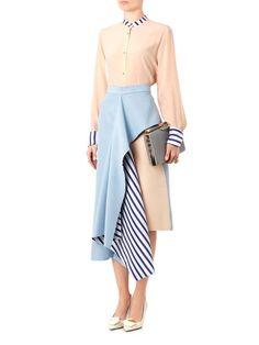 Roksanda Langston asymmetric ruffle skirt - Outfits for Work - Roksanda Langston asymmetric ruffle skirt - Work Fashion, Skirt Fashion, Hijab Fashion, Fashion Dresses, Fashion Design, Ruffle Skirt, Dress Skirt, Ruffles, Skirt Mini