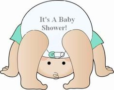 Its A Diaper Shower clip art