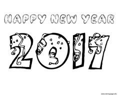 28 Best New Year Images New Years Eve Coloring Pages Colouring