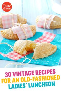 30 Vintage Recipes For an Old-Fashioned Ladies' Luncheon 30 Vintage Recipes For an Old-Fashioned Ladies' Luncheon Luncheon Recipes, Luncheon Menu, Ladies Luncheon, Mini Pie Recipes, Retro Recipes, Vintage Recipes, 1950s Recipes, Healthy Recipes, Cooking Recipes