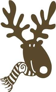 Silhouette Online Store - View Design #13847: moose with scarf