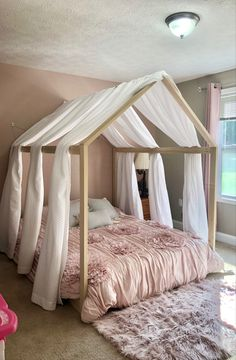 House Frame Bed, House Beds, Simple Bed Frame, New Beds, Bed Sizes, Creative Home, Queen Size, Comforter, Home Remodeling