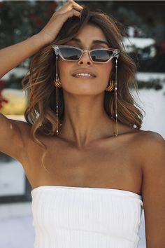 sunglasses chain Speak Against It Sunglasses Chain - sunglasses Trending Sunglasses, Cute Sunglasses, Ray Ban Sunglasses, Sunglasses Accessories, Sunglasses Women, Fashion Accessories, Sunnies, Summer Sunglasses, Festival Sunglasses