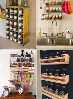 Ideias para organizar temperos na cozinha