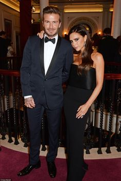 Stars of the show: The couple remained by one another's side as they headed inside the ven...