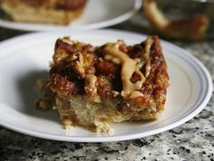 Banana Bread Pudding with Peanut Butter Drizzle    OMG! I have to try this!!!!