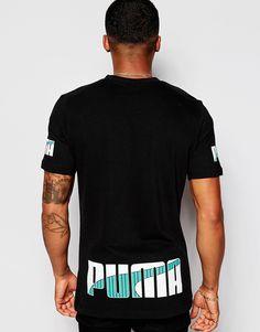 df6f0b1cbdc Image 1 of Puma Throwbacks T-Shirt With Back Print Models, Adidas, Nike