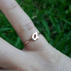 Check out this item in my Etsy shop https://www.etsy.com/listing/268943186/initial-ring-letter-ring-custom-ring
