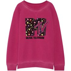 Marc Jacobs Appliquéd jersey sweatshirt (1.445 BRL) ❤ liked on Polyvore featuring tops, hoodies, sweatshirts, sweaters, shirts, marc jacobs, 80s sweatshirt, sequin shirt, purple sequin top and sequined top