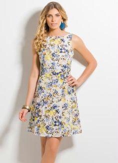 Espaço Maheyell: #Vestido Evasê Floral