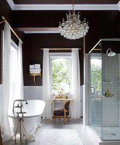 Черно-белая ванная комната (56 фото): шик и оригинальность в вашем доме…