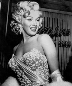 Marilyn Monroe photographed at the How to Marry a Millionaire premiere, 1953.
