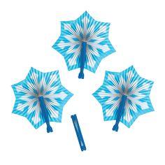 Snowflake Folding Fans - OrientalTrading.com