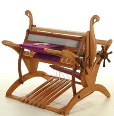 """Swan Lake"" floor loom by Golding Fiber Tools. $12,450 for the eight harness."
