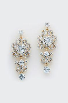 Celeste Earrings in Crystal