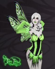 Absinthe Cabaret Fairy Outfit by FaeryAzarelle.deviantart.com on @deviantART