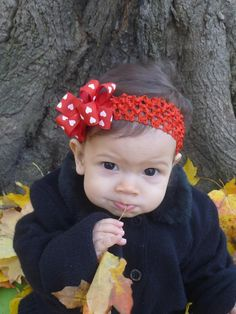 Valentine's Day infant hair bow headband by CicisBowBoutique