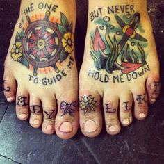 Wouldn't get tattoos on my feet, but still like the idea of something like this