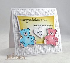 MMTPT231 Pink and Blue Twins by artystamper - Cards and Paper Crafts at Splitcoaststampers