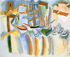 Boats on the Quay at Marseille Raoul Dufy - 1908