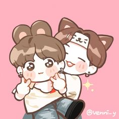 Image uploaded by Find images and videos about kpop, bts and bangtan boys on We Heart It - the app to get lost in what you love. Bts Chibi, Anime Chibi, Anime Kawaii, Jungkook Fanart, Kpop Fanart, Kpop Drawings, Cartoon Drawings, Army Drawing, Natsume Yuujinchou