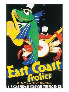 East Coast Frolics Julisteet tekijänä Frank Newbould AllPosters.fi-sivustossa