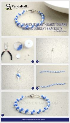 Jewelry Making Tutorial / A tutorial of diy craft jewelry will teach you to make beaded jewelry bracelets and it will be a good start for those people who newly contact the beading diy because it is easy to make and can increase their confidence. by wanting