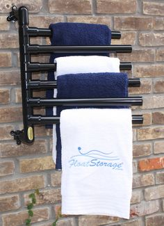 HANGING FLOAT RACKS® ORIGINAL HANGING TOWEL RACK - 6 TOWEL MODEL