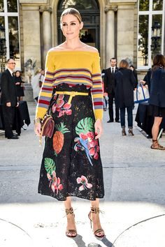 Olivia Palermo is seen arriving at Valentino Fashion show during Paris Fashion Week Spring/Summer 2017 on October 2 2016 in Paris France