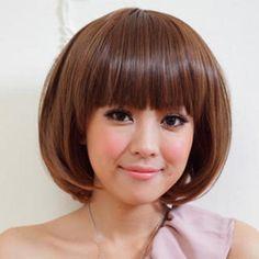 Short Full Wig - Straight  Caramel - One Size