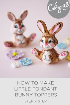 Let a simple chocolate mold do all the work to create this little bunny cake topper for you Easter cakes   Cakegirls Step x Step
