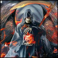 DeviantArt is the world's largest online social community for artists and art enthusiasts, allowing people to connect through the creation and sharing of art. Grim Reaper Art, Gothic Horror, Gothic Art, Dark Fantasy Art, Dark Art, Demon Art, Dark Images, 1 Tattoo, Skull Art