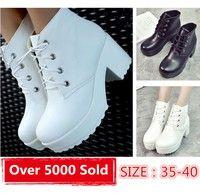 Wish | Womens Punk Rock Lace Up Platform Heels Ankle Boots shoes
