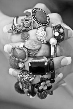 rings...on her fingers