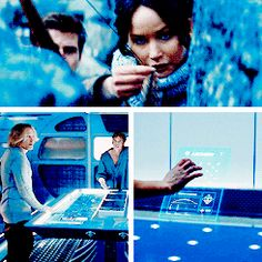 Catching Fire in Blue- GIF