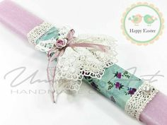 Greek Easter, Candle Art, Easter Crafts, Easter Ideas, Floral Tie, Diy And Crafts, Projects To Try, Presents, Candles