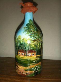 Nie ma jak pięknie przyozdobiona butelka :)