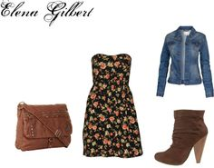 """Elena Gilbert"" by rebecca-fitzpatrick on Polyvore"